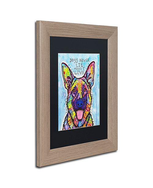 """Trademark Global Dean Russo 'Dogs Never Lie' Matted Framed Art, 11"""" x 14"""""""