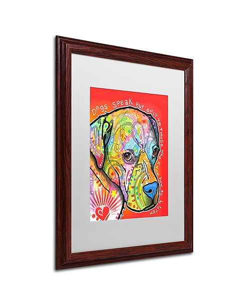 "Trademark Global Dean Russo 'Dogs Speak' Matted Framed Art, 16"" x 20"""
