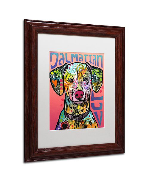 "Trademark Global Dean Russo 'Dalmatian Luv' Matted Framed Art, 11"" x 14"""