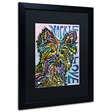 Dean Russo 'Yorkie Luv' Matted Framed Art