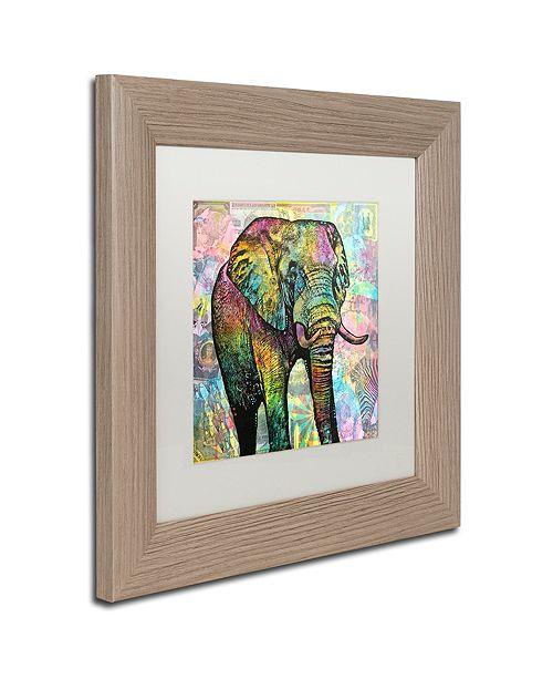 "Trademark Global Dean Russo 'Elephant Torn' Matted Framed Art, 11"" x 11"""