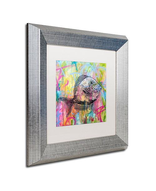 "Trademark Global Dean Russo 'Fishy Spray' Matted Framed Art, 11"" x 11"""