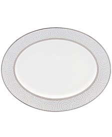Pearl Beads Oval Platter
