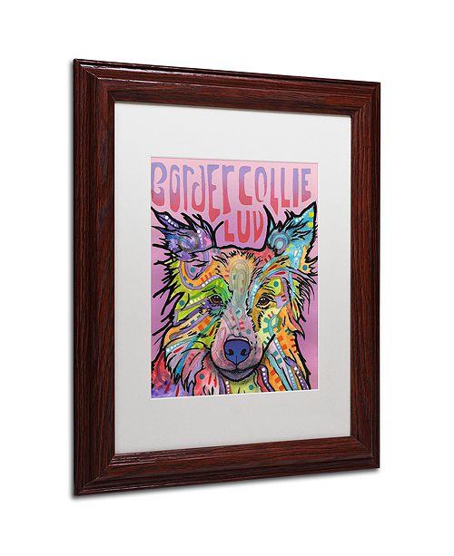 "Trademark Global Dean Russo 'Border Collie Love 2' Matted Framed Art, 11"" x 14"""