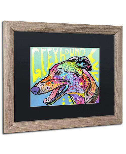 "Trademark Global Dean Russo 'Greyhound Luv' Matted Framed Art, 16"" x 20"""