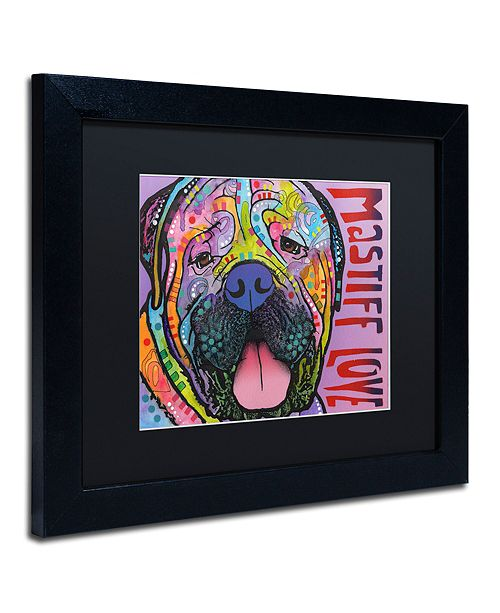 "Trademark Global Dean Russo 'Mastiff Love' Matted Framed Art, 11"" x 14"""