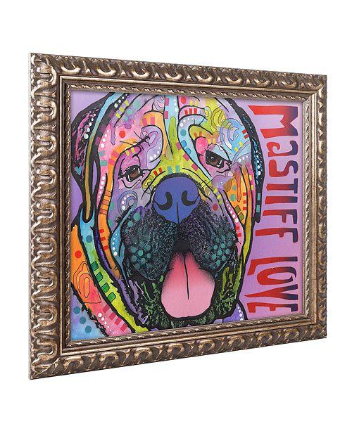 "Trademark Global Dean Russo 'Mastiff Love' Ornate Framed Art, 16"" x 20"""