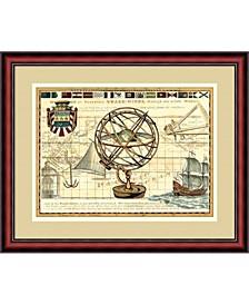 Nautical Map I Framed Art Print