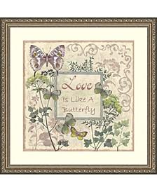 Love And Butterflies Framed Art Print