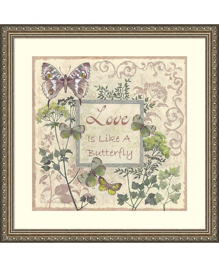 Amanti Art - Love and Butterflies 22x22 Framed Art Print