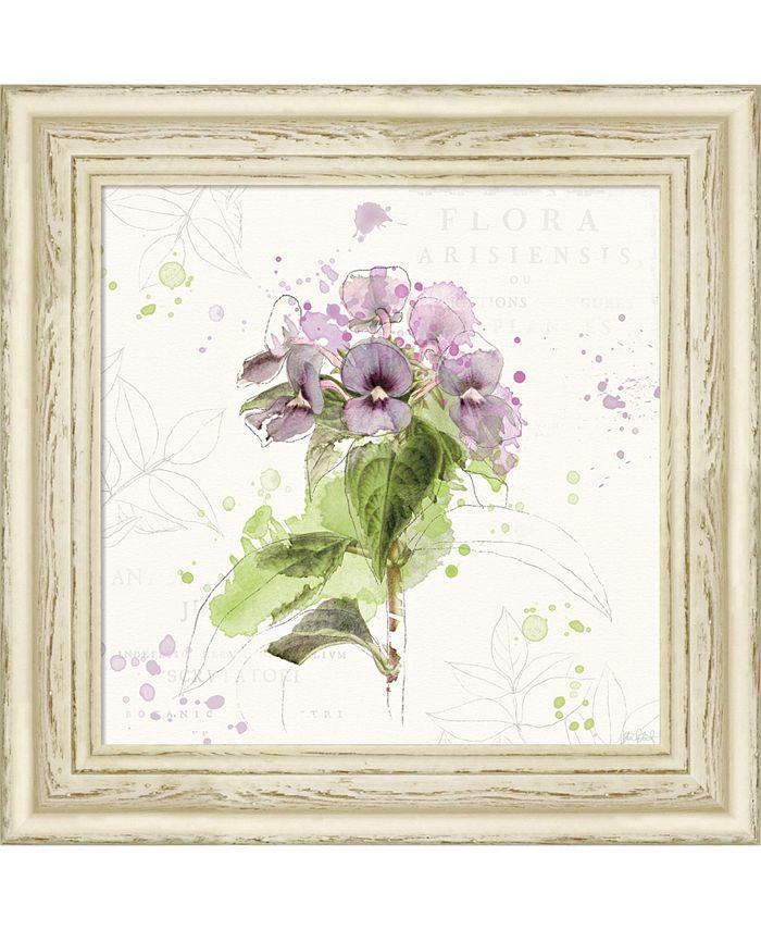 Amanti Art - Floral Splash III 18x18 Framed Art Print