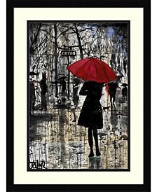Amanti Art Metro Red Umbrella Framed Art Print