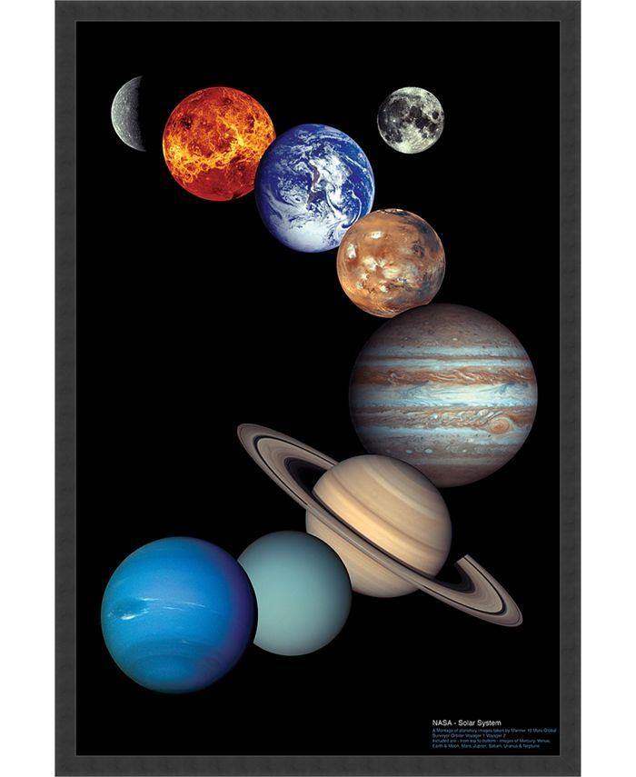 Amanti Art - NASA Solar System- 25x37 Framed Art Print
