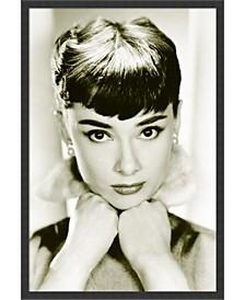 Audrey Hepburn - Sepia- Framed Art Print
