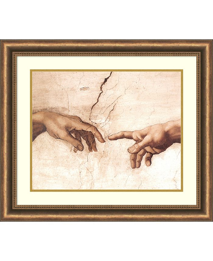 Amanti Art - The Creation of Adam (Detail I) 28x24 Framed Art Print