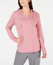 Alfani Ribbed Soft-Knit Hoodie, Created for Macy's