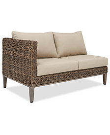 La Palma Outdoor Right-Armed Loveseat Sectional, Created For Macy's