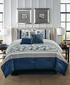 CLOSEOUT! Reina 7-Pc. Queen Comforter Set