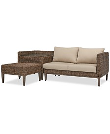 La Palma Outdoor 3-Pc. Sectional Seating Set (1 Left-Arm Loveseat Sectional, 1 Corner Table With Arm And 1 Coffee Table), Created For Macy's