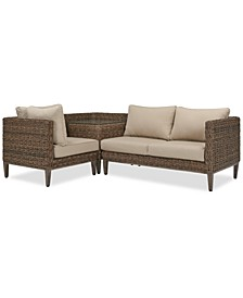 La Palma Outdoor 3-Pc. Sectional Seating Set (1 Left-Arm Loveseat Sectional, 1 Corner Table With Arm And 1 Corner Sectional), Created For Macy's