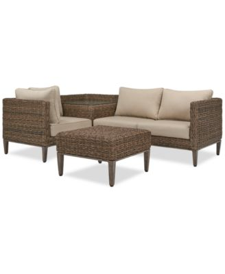 ... Furniture La Palma Outdoor 4 Pc. Sectional Seating Set (1 Left Arm ...