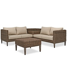 La Palma Outdoor 4-Pc. Sectional Seating Set (1 Right-Arm Loveseat Sectional, 1 Corner Table With Arm, 1 Left Arm Loveseat Sectional And 1 Coffee Table), Created For Macy's