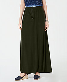 Style & Co Petite Drawstring Maxi Skirt, Created for Macy's