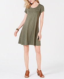 Style & Co Cotton T-Shirt Swing Dress, Created for Macy's