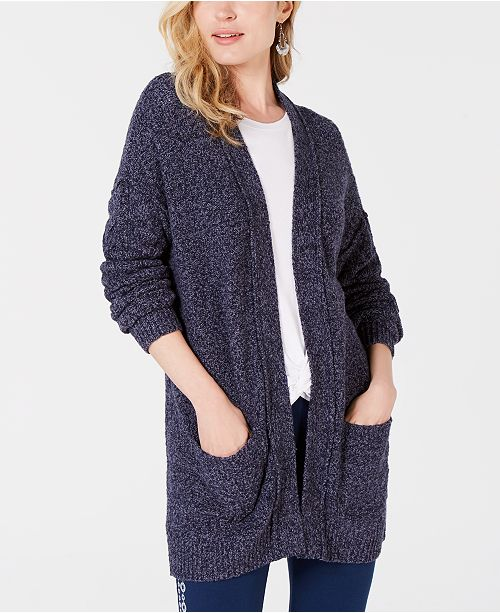 Style & Co Marled Open Front Cardigan, Created for Macy's