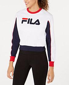 Fila Nuria Fleece Colorblocked Cropped Sweatshirt