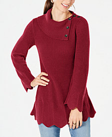 Style & Co Scallop-Edge Sweater, Created for Macy's