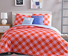 VCNY Home Checker Reversible 4-Pc. Twin XL Comforter Set