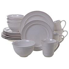 Orbit Solid Color - Cream 16-Pc. Dinnerware Set