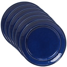 Certified International Orbit Solid Color - Cobalt Blue 6-Pc. Salad Plate