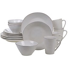 Harmony Solid Color - Cream 16-Pc. Dinnerware Set