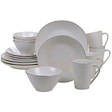 Certified International Harmony Solid Color - Cream 16-Pc. Dinnerware Set