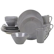 Harmony Solid Color - Light Grey 16-Pc. Dinnerware Set