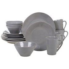 Certified International Harmony Solid Color - Light Grey 16-Pc. Dinnerware Set