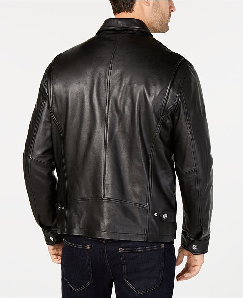 big collection professional newest style of Men's James Dean Leather Jacket, Created for Macy's