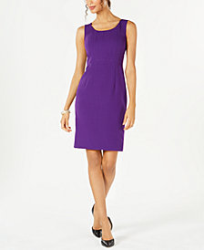 Kasper Sleeveless Jewel-Neck Sheath Dress