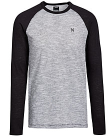 Hurley Men's Logo Graphic Raglan Shirt