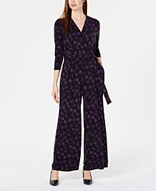 Alfani Petite Printed Jumpsuit, Created for Macy's