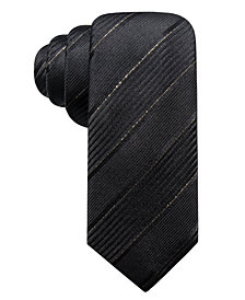 Alfani Men's Whittier Slim Stripe Silk Tie, Created for Macy's