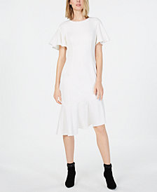 Calvin Klein Asymmetrical Midi Dress