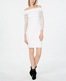 Calvin Klein Petite Off-The-Shoulder Dress