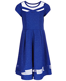 Bonnie Jean Big Girls Glitter-Knit Dress