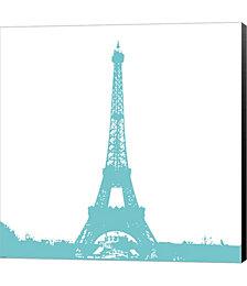 Aqua Eiffel Tower by Veruca Salt Canvas Art