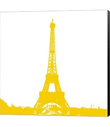 Yellow Eiffel Tower by Veruca Salt Canvas Art