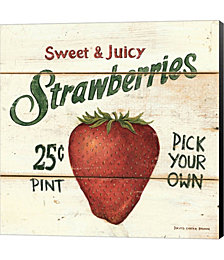 Sweet and Juicy Strawberries by David Carter Brown Canvas Art