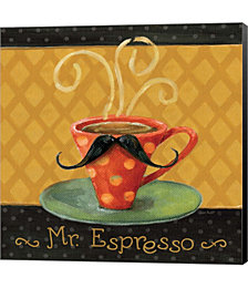Cafe Moustache III Square by Lisa Audit Canvas Art